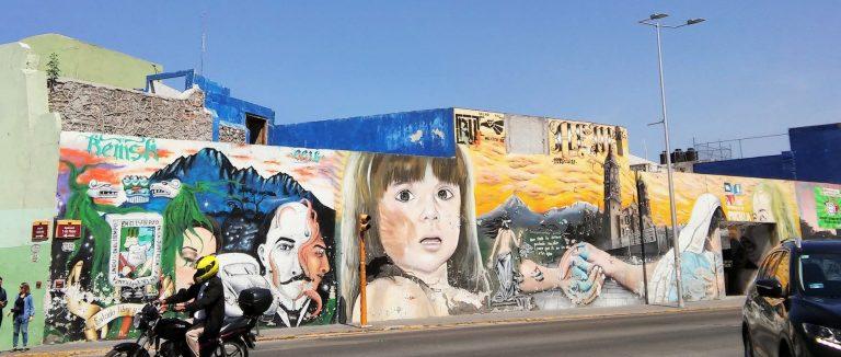 Puebla city centre street art, Mexico