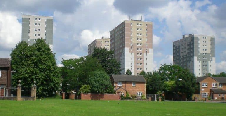 Old Trafford 'Bird Blocks' residential towerblocks
