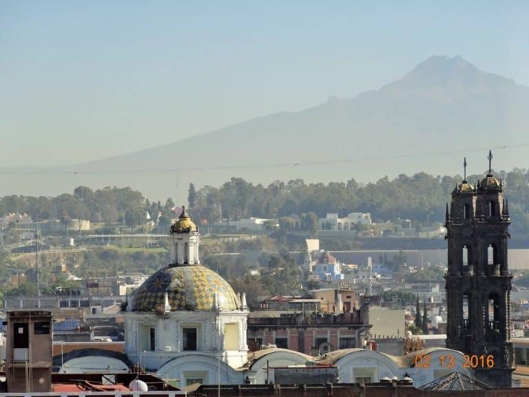 City of Puebla views & pollution