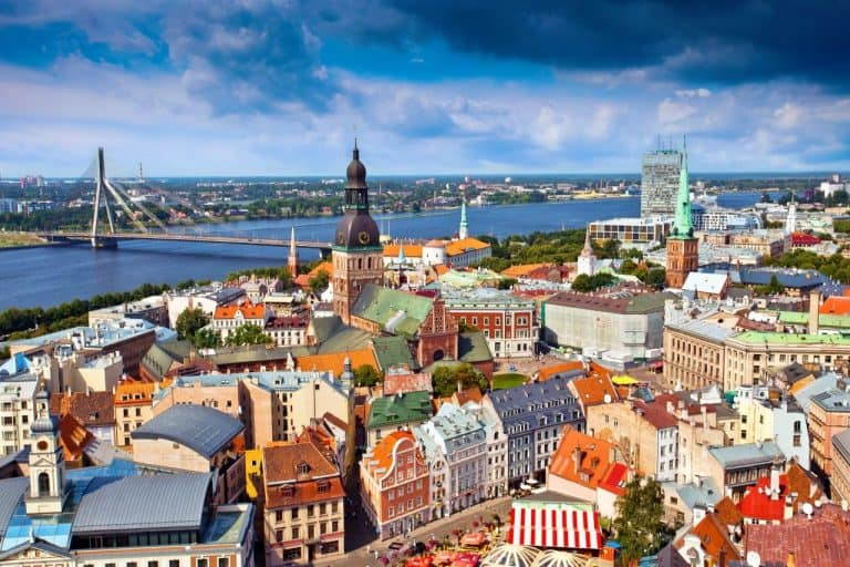 City of Riga townscape view