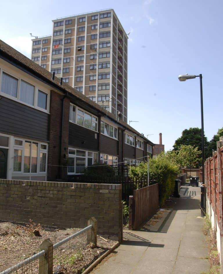 Old Trafford - Three Rivers tower blocks & maisonettes
