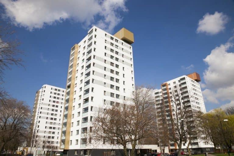 Old Trafford Masterplan refurbished residential towerblocks