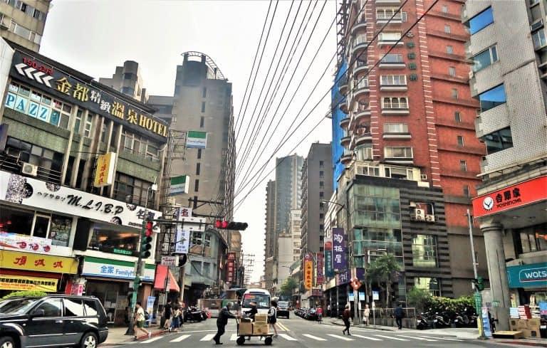 Taipei typical street scene