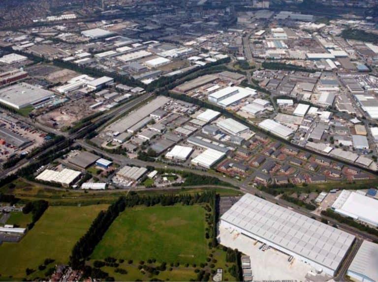Trafford Park aerial