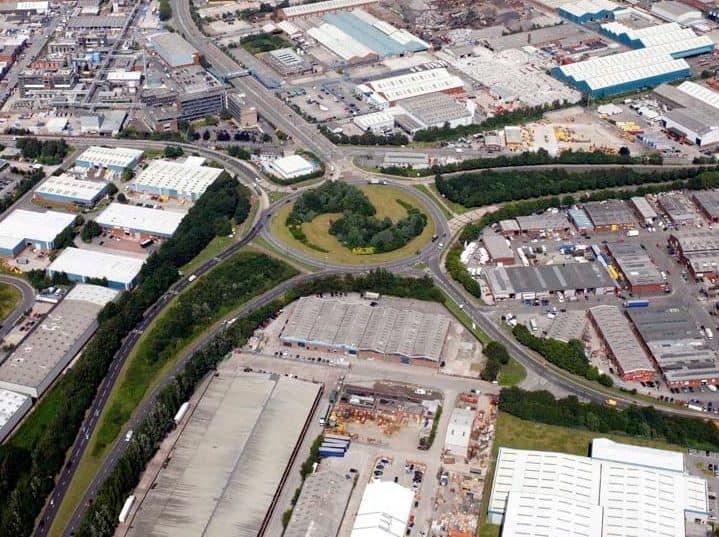 Trafford Park aerial view