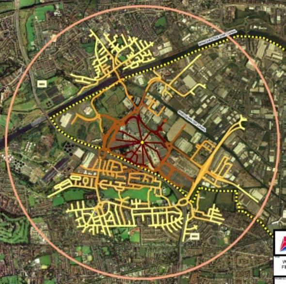 Trafford Park movement severance aerial
