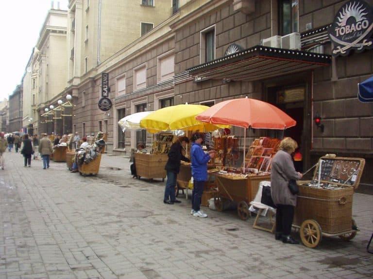Riga historic centre traders